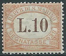 1925 SAN MARINO SEGNATASSE 10 LIRE MNH ** - X25