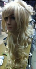 CHSW16 fashion fine long curly blonde natural hair wigs for women wig