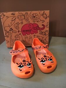NIB Mini Melissa Sz 5 Ultragirl IV Giraffe Orange