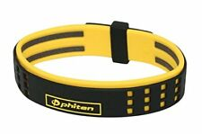 Phiten Bracelet RAKUWA Brace S Duo Type Limited Black / Yellow 7.48 in Titanium*