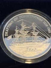 More details for 5oz silver coin. pitcairn islands 50 dollars drafting the constitution 1838-1938