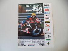 advertising Pubblicità 1985 MOTO HONDA VF 400 F