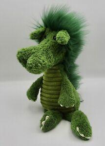 "Jellycat plush green dragon Dudley 12"" stuffed animal lovey Snagglebaggle"