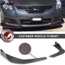 Universal Fit Carbon Fiber CF Winglet Type 3 Front Bumper Lip Splitter Diffuser