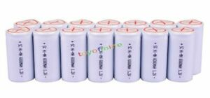 14x Sub C SubC With Tab 6000mAh 1.2V Ni-MH Rechargeable Battery  High Power
