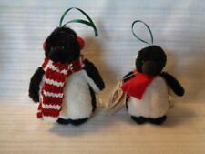 Lot Of 2 Boyds Bears Penguin Ornaments