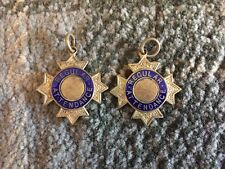 Two Antique Enamelled Attendance Medals