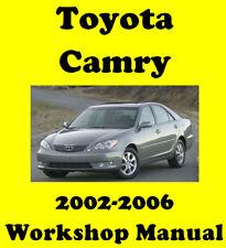 TOYOTA CAMRY 2002 - 2006 WORKSHOP SERVICE REPAIR MANUAL DIGITAL DOWNLOAD
