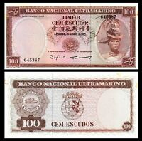Timor 1959 100 Escudos Banknote G Quality P24 Paper Money version 3