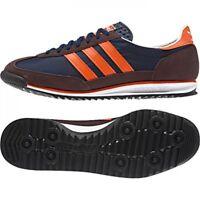 Mens Adidas Originals SL72 Navy Orange Casual Fashion Trainers Shoes Size 6-12