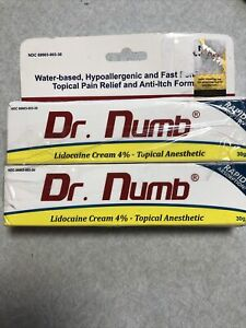 Lot Of 2 Dr Numb Topical Cream