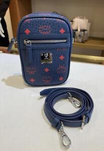 NWT Authentic MCM Mini Camera Bag, CrossBody Women Men Retail Price $495+ Tax