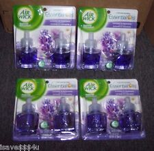 8 NEW AIR WICK LAVENDER & CHAMOMILE FRAGRANCE SCENTED OIL REFILLS (4 PKGS OF 2)