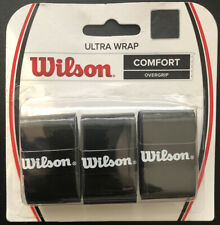 Wilson Ultra Wrap Black Comfort Overgrip Tennis Racket 3 Pack Sporting New