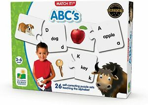 Learning Journey Match It ABC's Self-Correcting Alphabet Puzzle | Brand New