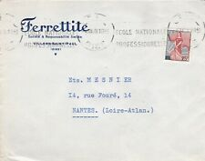 France 1959 Ferrettite Villers St Paul Company advertising Cover VGC