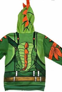 Fortnite Unisex Hoodie Jacket with Zip Up Face Mask Rex Skin NWT YOUTH