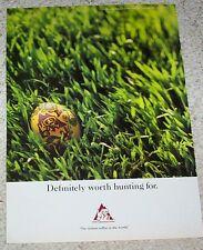 1993 print ad - Colombian Coffee -Easter egg hunt- Juan Valdez mule logo ADVERT