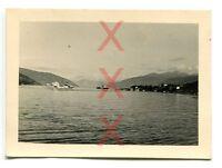 KREUZER EMDEN, orig. Foto, Begleitdampfer, Balholm, Norwegen, Auslandsreise 1938