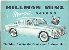 ROOTES HILLMAN MINX SPECIAL SALOON SALES BROCHURE 1956