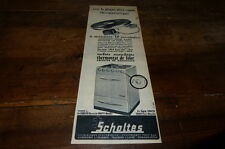 SCHOLTES - PLAQUE THERMOSTATIQUE - Publicité de presse / Press advert 1956