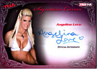 TNA Angelina Love 2009 Knockouts Signature Curves SILVER Autograph Card