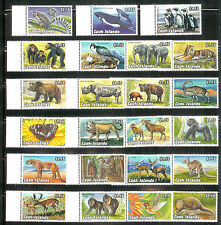 COOK ISLANDS 1992 - (23) ENDANGERED WILDLIFE SET MNH ANIMALS SET SCV $60.00