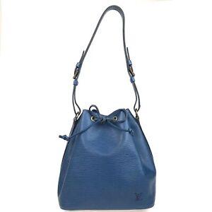 100% Authentic Louis Vuitton Epi Petit Noe Blue M44005 [Used] {07-0170}
