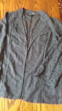 Dorothy Perkins lace dark grey jacket size 12 long sleeves collared