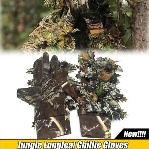 Leafy Tactical Camo Camouflage Hunting Clothing Ghillie Gloves Woodland Jungle