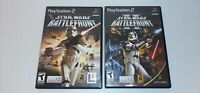 Star Wars Battlefront 1 and 2 Sony PlayStation 2 PS2 Black Label Games CIB II