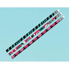 PRINCESS ROCKER PENCILS (12) ~ Birthday Party Supplies Favors Stationery Pink