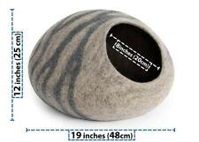 Merino Wool Cat Bed - DARK Grey