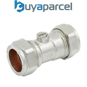 22mm Straight Isolation Stop Tap Valve Chrome Compression Pack Size 1-20