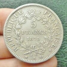 """IIIe République - 5 Francs  """"Hercule"""" - 1875 A  Paris - Variété Petit A"""