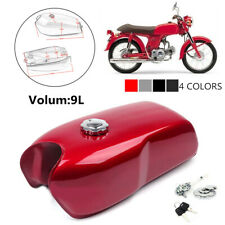 Motorcycle Gasoline Tank 9L/2.4Gal Retro Modified Gasoline Tank With Cap Switch