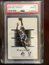 2001-02 SP Authentic Michael Jordan Basketball Card #90 PSA GEM MINT 10