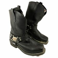 Men's Red Wing USA made Harness Motorcycle boots Black Sz 12 D