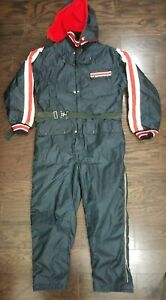 Vintage Thermo Line Dupont Snow Snowmobile Suit Ski Suit Made in USA Mens Large