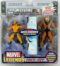 MARVEL LEGENDS Face-Off WOLVERINE SABRETOOTH VA Toy Biz