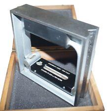 "Etalon Precision Square Level (150mm x 150mm) Approx. 6"" x 6"" with .0006""/ft"