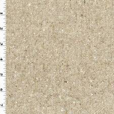 Brown/Bisque Beige Wool Blend Slub Tweed Jacketing, Fabric By The Yard