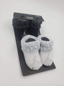 2 Pair Nike Air Jordan Baby Boys Booties, 0-6 Months Shower Gift, Black, B32