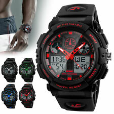 Men's Date Quartz Military Digital Tactical Fashion Shock Sports LED Wrist Watch