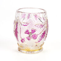 US Glass Delaware Cranberry Stain Toothpick Holder, Antique EAPG c.1899 15065