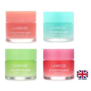 LANEIGE Lip Sleeping Mask 20g, Apple Lime, Berry, Grapefruit, Mint Choco [UK]