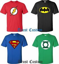 DC Comics Batman Flash Green Lantern Superman T-Shirt ALL SIZES S - 4XL