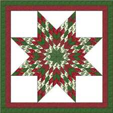 CHRISTMAS LONE STAR - Not quilted, Machine Pieced, Made in the USA!