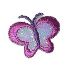 Deep Pink Sparkly Wing Butterfly Mini  Iron On Appliques x 10