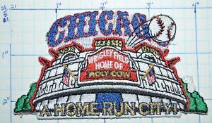 CHICAGO WRIGLEY FIELD BASEBALL CUBS HOME RUN CITY ILLINOIS STADIUM PATCH